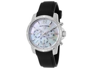 Swiss Legend 16527Sm-02 Legasea Diamond Multi-Function Black Silicone Mother Of Pearl Dial Watch