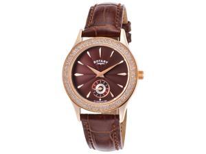 Rotary Ls02907-16 Women's Brown Genuine Leather And Dial Watch