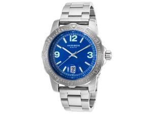 Akribos Xxiv Ak696bu Men's Ss Blue Dial Ss Case Watch