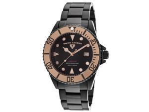 Swiss Legend 21344-Bb-11-Rb Luminous Black Ip Steel And Dial Rose-Tone Bezel 44Mm Watch