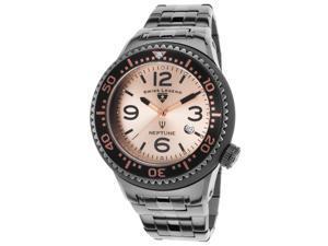 Swiss Legend 21848P-Gm-99 Neptune Force Gunmetal Ip Steel Rose-Tone Dial Watch
