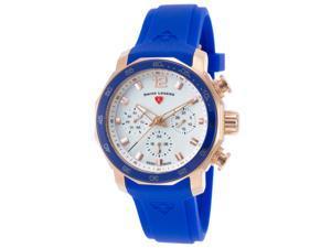 Swiss Legend 16192Sm-Rg-02-Blub Blue Geneve Chrono Blue Silicone Mop Dial Watch