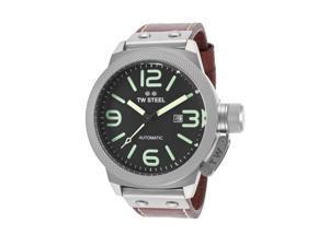 Tw Steel Cs26 Men's Canteen Auto Maroon Genuine Leather Beige Dial Watch
