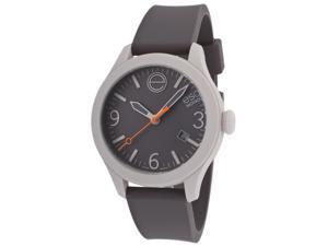 Esq Movado 7101446 Esq One Grey Silicone & Dial Light Grey Case Short Strap Watch