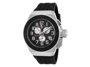 Swiss Legend 13844-01-Bb-Sa Trimix Diver 2.0 Chrono Black Silicone And Dial Silver-Tone Accent Watch