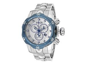 Invicta 10806 Men's Venom Reserve Chrono Ss Silver-Tone Dial Blue Ip Ss Bezel Ss Watch