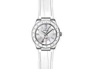 Invicta 22539 Women's Angel White Genuine Patent Leather Silver-Tone Dial Ss Watch