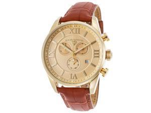 Swiss Legend 22011-Yg-010-Abt51m Bellezza Chrono Brown Gen Alligator Gold-Tone Dial & Stainless Steel Watch
