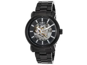 Invicta 22576 Men's Vintage Automatic Black Ip Ss Silver-Tone Dial Black Ip Ss Watch