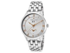 Maurice Lacroix Mp6707-Ss002-111 Men's Masterpiece Auto Dual Time Ss Silver-Tone Dial Ss Watch