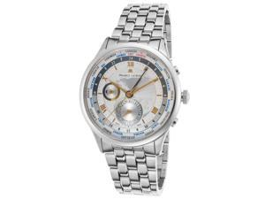 Maurice Lacroix Mp6008-Ss002-110 Men's Masterpiece Automatic Gmt Stainless Steel Silver-Tone Dial Ss Watch