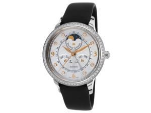 Maurice Lacroix Sd6107-Sd501-15E Women's Pontos Starside Diamond Auto Black Satin Silver-Tone Dial Watch