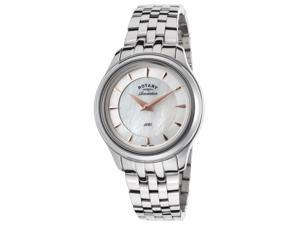 Rotary Lb02970-10-41 Women's Revelation Stainless Steel White Mother Of Pearl Dial Watch