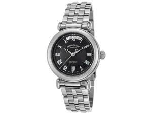 Armand Nicolet 9430A-Nr-M9430 Men's Arc Royal Automatic Stainless Steel Black Dial Stainless Steel Watch