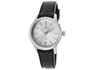 Maurice Lacroix Lc1113-Ss001-130 Women's Les Classiques Black Leather Silver-Tone Dial Small Watch