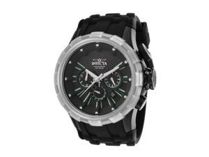 Invicta 16975 Men's I-Force Chronograph Black Dial Black Silicone Watch