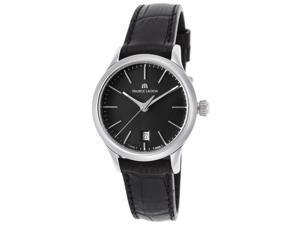 Maurice Lacroix Lc1113-Ss001-330 Women's Les Classiques Black Leather Black Dial Small Watch