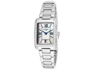 Rotary Lb02650-41 Women's Stainless Steel Mop Dial Crystals Watch