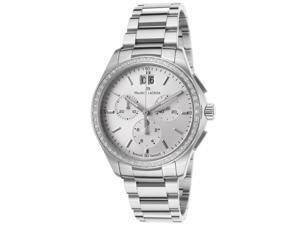 Maurice Lacroix Mi1057-Sd502-130 Women's Miros Diamond Chrono Stainless Steel Silver-Tone Dial Ss Watch