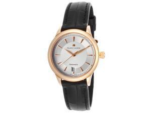 Maurice Lacroix Lc6003-Pg101-130 Women's Les Classiques Automatic Black Alligator 18K Gold Case Watch