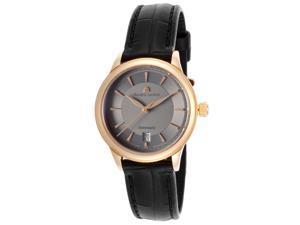 Maurice Lacroix Lc6003-Pg101-230 Women's Les Classiques Auto Black Croco Gunmetal Dial 18K Rose Gold Watch