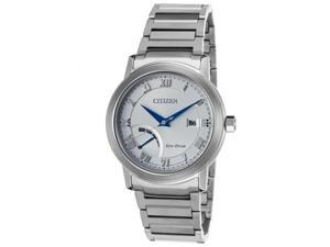Citizen Aw7020-51A Mens Power Reserve Stainless Steel Silver-Tone Dial Watch