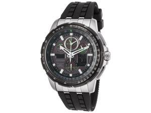 Citizen Skyhawk A-T World Time JY8051-08E Black/Black Silicone Analog Eco-Drive Men's Watch