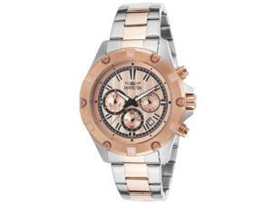 Invicta 15605 Men's Specialty Chronograph Two-Tone Steel Rose-Tone Dial Watch