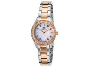 Rotary Lb90013-41 Women's Les Originales Two-Tone Ss Mop Dial Ss Crystal Bezel Watch