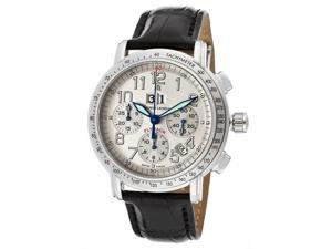 Maurice Lacroix Mp6178-Ss001-12E Men's Masterpiece Flyback Automatic Chrono Silver (925) Dial Black Genuine Crocodile Watch