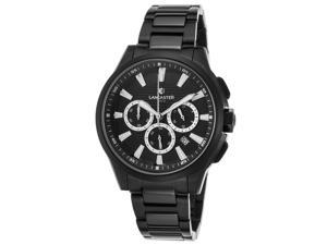 Lancaster Italy Ola0667c-Mb-Bk-Nr Women's Apollo Chrono Black Ion Plated Ss And Dial Black Ion Plated Ss Watch