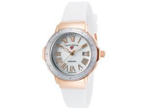 Swiss Legend 20032Dsm-Rg-02-Sb-Wht South Beach Diamonds White Silicone And Mop Dial Rose-Tone Ss Case Watch