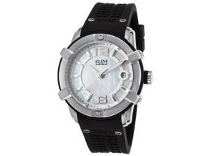Elini Barokas 20005-02 Spirit Black Silicone Mother Of Pearl Dial Ss Watch