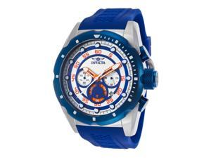 Invicta 20304 Men's Speedway Chronograph Blue Polyurethane Silver-Tone Dial Watch