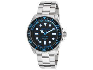 Invicta 20122 Men's Pro Diver Stainless Steel Black Dial Light Blue Accent Watch