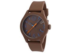 ESQ One 7301456 Unisex Watch with Brown Silicone Dial and Case