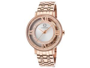 Cabochon 80288-Rg-02S Carnaval Rose-Tone Ss Silver-Tone Dial Rose-Tone Ss Watch
