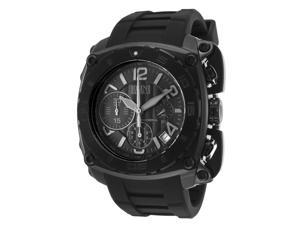 Elini Barokas 20010-Blk The General Chronograph Black Silicone & Dial Black Ip Stainless Steel Watch