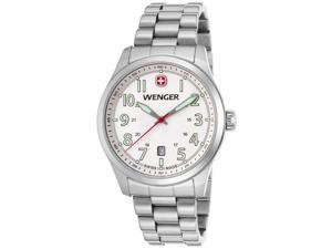 Wenger 01-0541-107 Men's Terragraph Stainless Steel White Dial Watch