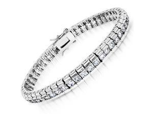 C.Z. Rolex (.925) Sterling Silver Bracelet
