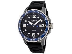 Fossil Ceramic Silicone Black Dial Men's watch #CE5004