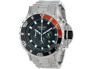 Precimax PX13235 Carbon Pro Men's Silver Stainless-Steel Quartz Watch with Black Dial