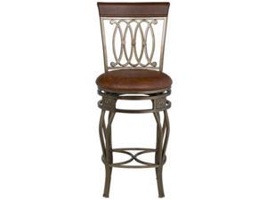"Hillsdale Furniture Montello Old Steel Swivel 32"" Bar Stool"
