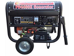 Powerland PD4400E Portable Gas Generator - 4400 Watt, 7.5 HP, Electric Start