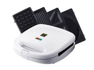 ZZ S6141A 4-in-1 Breakfast Waffle Omelette and Sandwich Maker - White