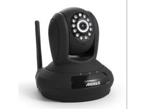 ANNKE SP1 Black HD 1280x720P Cloud Network IP Camera - H.264 Wireless/Wired Day/Night Pan/Tilt Security Monitor, IR-Cut ...