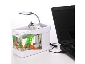 Tomotop Mini USB Desktop Lamp Light Colorful LED Fish Tank Aquarium - White