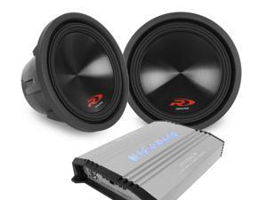 "Alpine Type-R + Hifonics Brutus 1-Ohm Stable Class D Monoblock Amplifier - Two 12"""