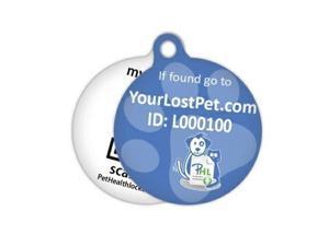 PetHeathlocker Smart Pet Tag Pet ID (Large) - Blue