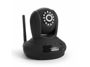 Annke SPI Simple Setup 720P HD Wi-Fi Network IP Camera Baby Monitor - 30ft Night Vision, QR Code Scan Plug & Play with P 350°/T ...